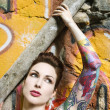 Sexy tattooed woman. — Stock Photo #9364880