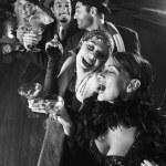 Retro women laughing. — Stock Photo