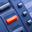Telephone with Lit Intercom Button — Stock Photo