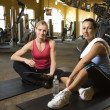 Women at health gym. — Stock Photo #9365877