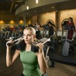 Stock Photo: Woman at health club.