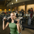 Woman at health club. — Stock Photo
