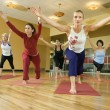 Women in yogclass. — Stock Photo #9365913