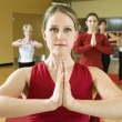 Stock Photo: Women in yoga class.