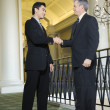 Two businessmen in hotel. — Stock Photo