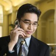 Businessman Using Cellphone — Stock Photo