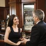 Man and woman at bar. — Stock Photo