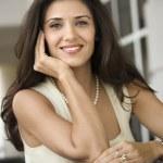 Portrait of smiling woman. — Stock Photo