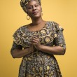 Woman in African dress. - Stock Photo