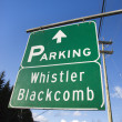 Signs for Whistler Blackcomb. — Stock Photo
