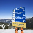 Ski resort trail direction signs. — Stock Photo #9367919