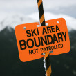 Stock Photo: Ski trail boundary sign.