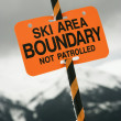 Ski aretrail boundary sign. — Photo #9367996