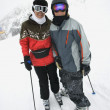 Mom and son at ski slope. — Stock Photo #9368040