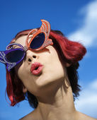 Whimsical woman. — Stock Photo