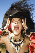 Woman making facial expression. — Stock Photo