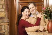 Couple smiling. — Stock Photo