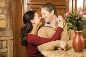 Couple at home. — Stock Photo