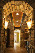Arched hallway in house. — Stock Photo