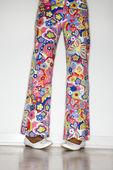 Girl wearing flower pants. — Stock Photo