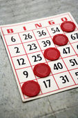 Winning bingo card. — Stock Photo