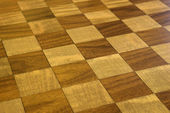 Checkered wooden floor. — Stock Photo