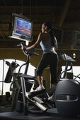 Woman at gym. — Stock Photo