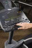 Elliptical machine controls. — Stock Photo