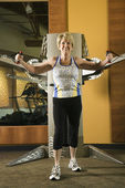 Woman exercising. — Stock Photo