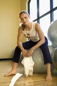 Balace ボール上の女性. — ストック写真