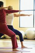 Women doing yoga. — Stock Photo