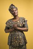 Woman in African dress. — Stock Photo