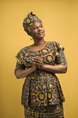 Woman in African attire. — Stock Photo