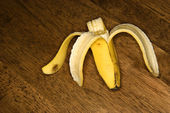 Half eaten banana. — Stock Photo