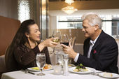 Couple on dinner date. — Stock Photo