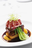 Gourmet meal still life. — Stock Photo