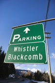 Tekenen voor whistler blackcomb. — Stockfoto