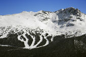 Ski resort trails on mountain. — Stock Photo