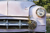 Front end of old car. — Stock Photo