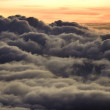 Sunrise over clouds in Maui. - Stock Photo
