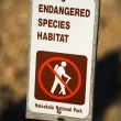 Endangered species habitat sign. - Stock Photo