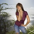Stock Photo: Woman on Maui coast.
