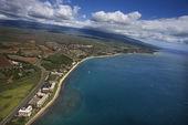 Aerial of Maui coast. — Stock Photo