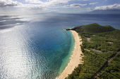Aerial of Maui beach. — Stock Photo