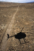 Helicopter shadow. — Stock Photo