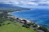 Coastline with resorts. — Stock Photo