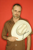 Man with cowboy hat. — Stock Photo