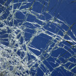 Cracked broken glass. — Stockfoto