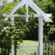 Arbor in Yard — Stock Photo