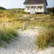 Cottage on Beach — Stock Photo